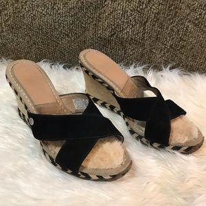 Ugg Margot Suede Wedge Sandal Size 7